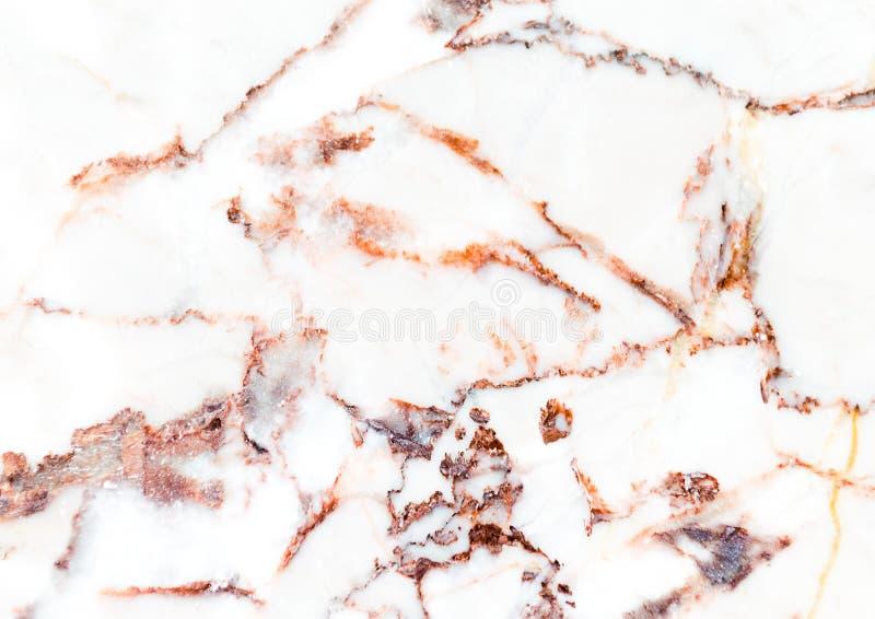 Modello di marmo bianco con le vene utili come fondo o struttura, marmo genuino reale dettagliato dalla natura fotografie stock libere da diritti
