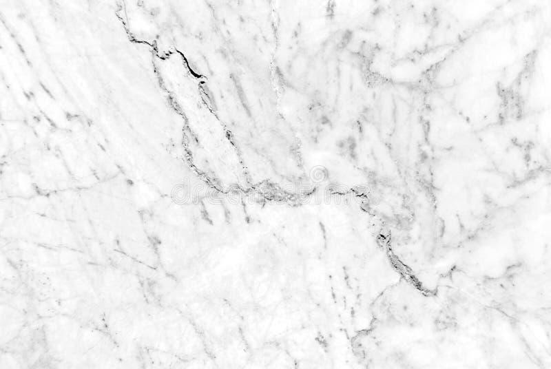 Modello di marmo bianco con le vene utili come fondo o struttura, marmo genuino reale dettagliato dalla natura immagini stock