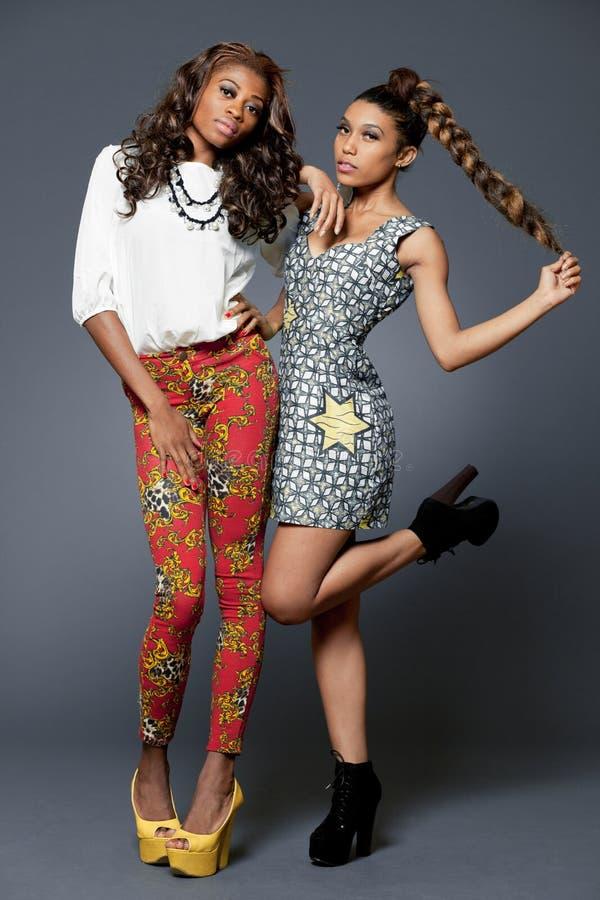 Modello di moda afroamericano. fotografie stock libere da diritti