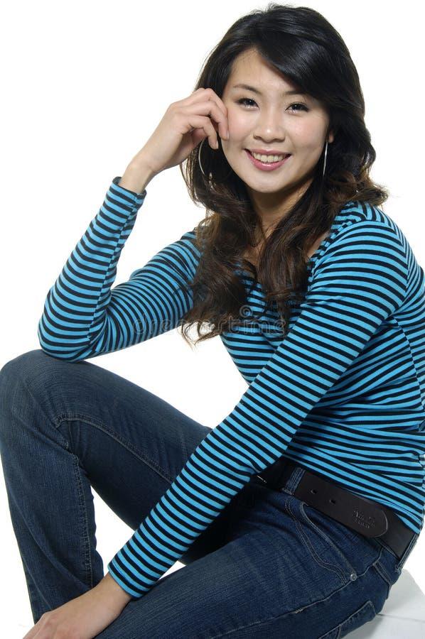 Modello di moda asiatico immagini stock