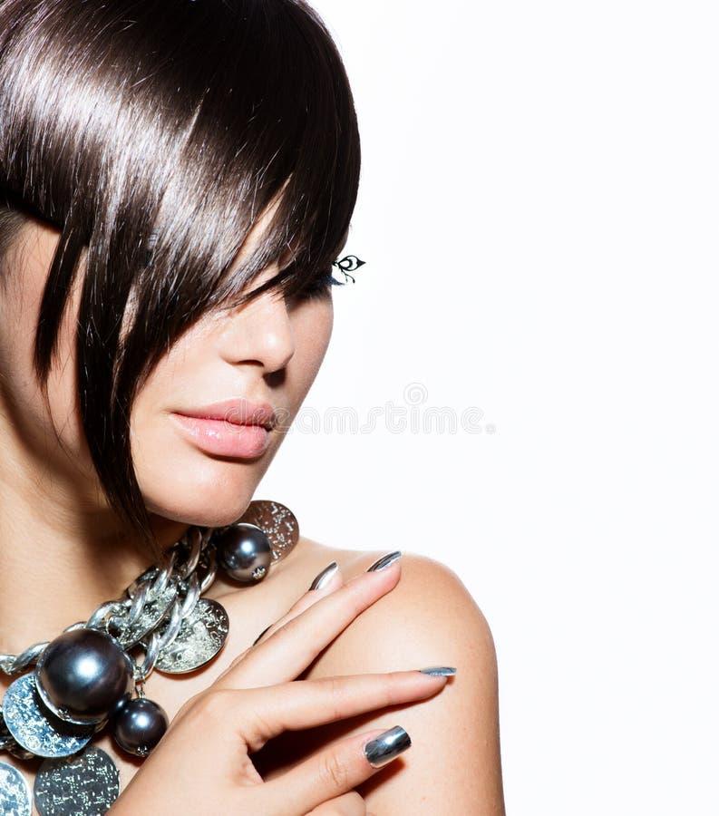 Modello di moda Girl Portrait fotografia stock libera da diritti