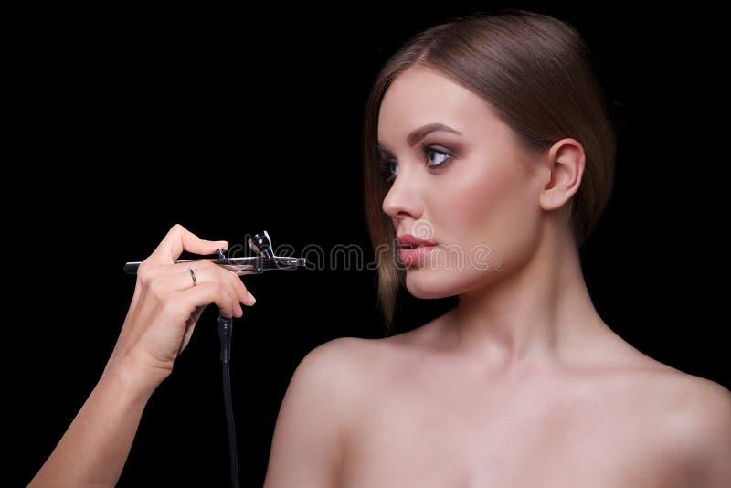 Modello di moda Woman, ritratto di bellezza immagine stock
