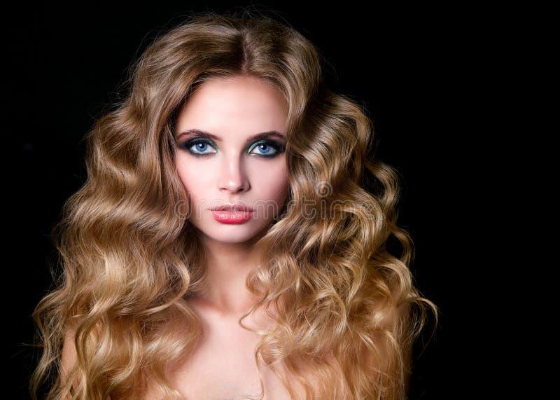 Modello di moda Woman, ritratto di bellezza immagini stock