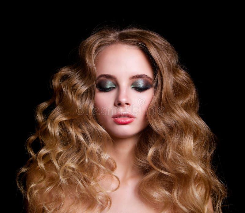 Modello di moda Woman, ritratto di bellezza fotografia stock