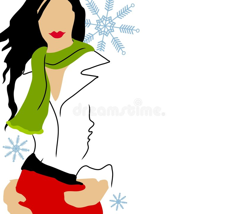 Modello di modo bianco di inverno illustrazione vettoriale