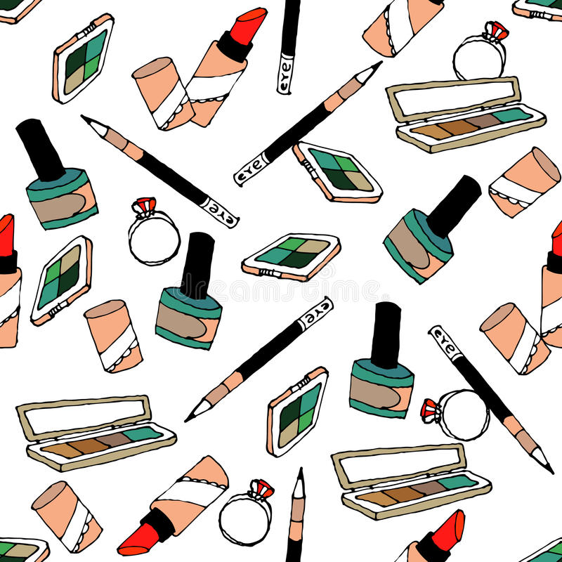 Modello di modo dei cosmetici royalty illustrazione gratis