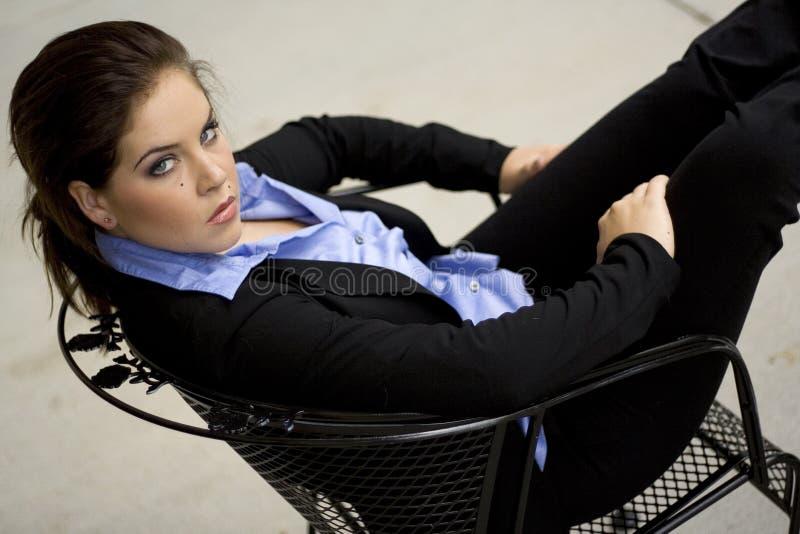 Modello di modo del Brunette fotografia stock