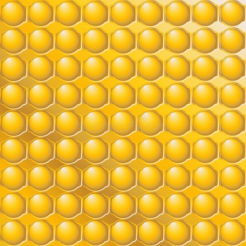 Modello di mosaico astratto del miele illustrazione vettoriale