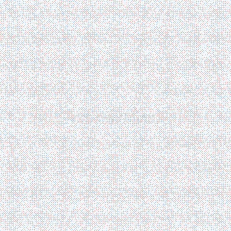 Modello di mosaico grigio senza cuciture Fondo leggero di piccoli quadrati illustrazione vettoriale