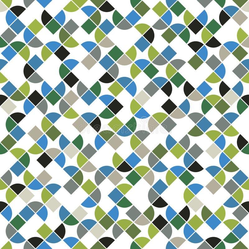 Modello di mosaico senza cuciture, progettazione di vettore royalty illustrazione gratis