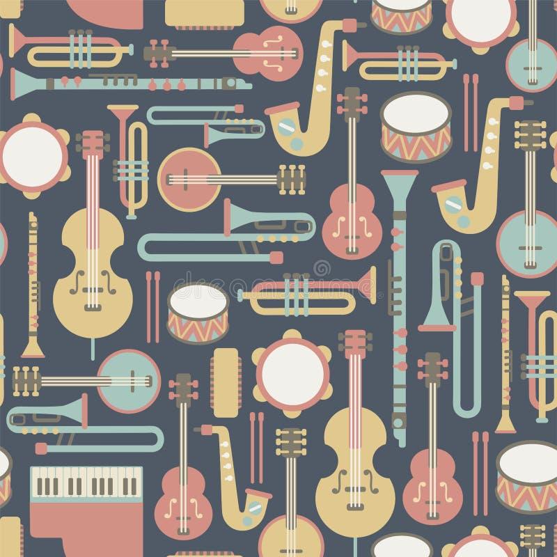 Modello di musica illustrazione di stock