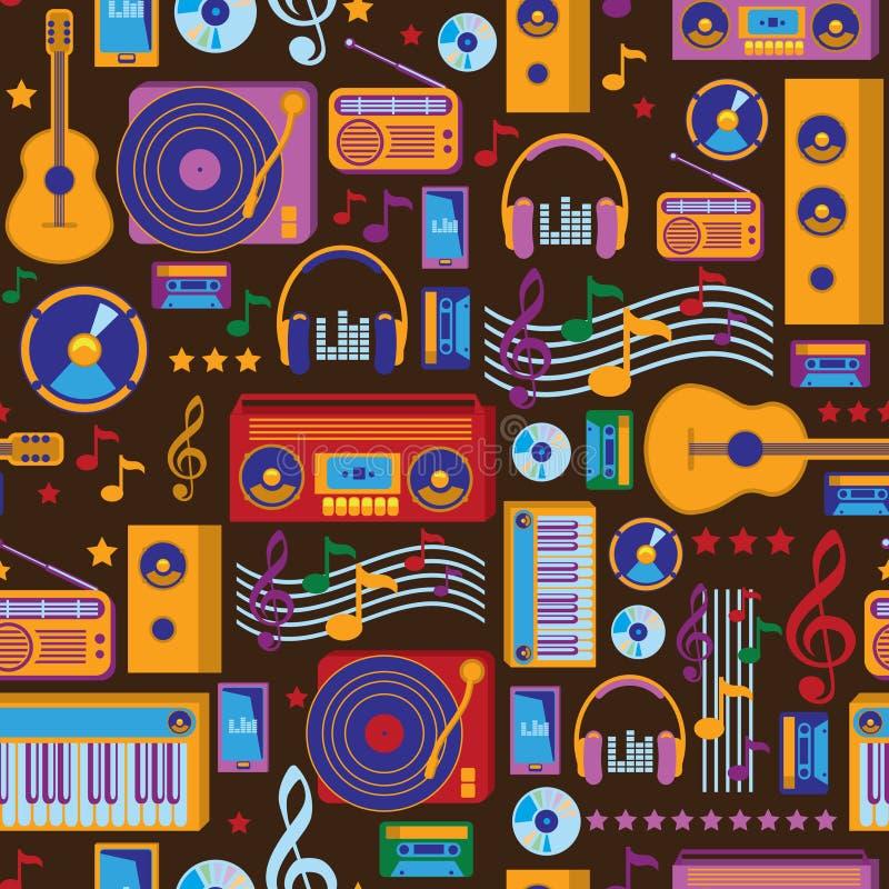 Modello di musica illustrazione vettoriale
