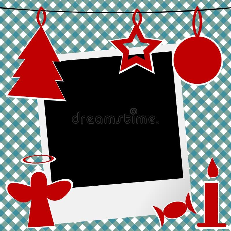 Modello di Natale con la struttura della foto royalty illustrazione gratis
