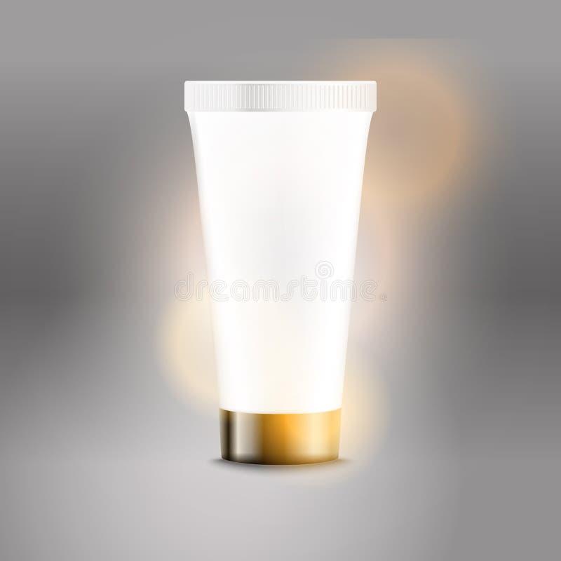 Modello di plastica di vettore di pubblicità del tubo royalty illustrazione gratis
