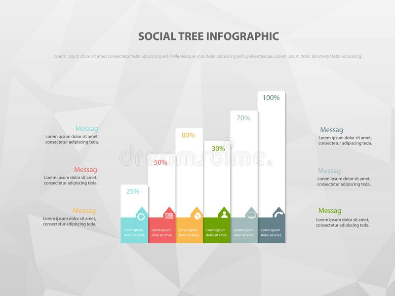 Modello di presentazione di analisi dei dati, disposizione della copertura e infographics royalty illustrazione gratis