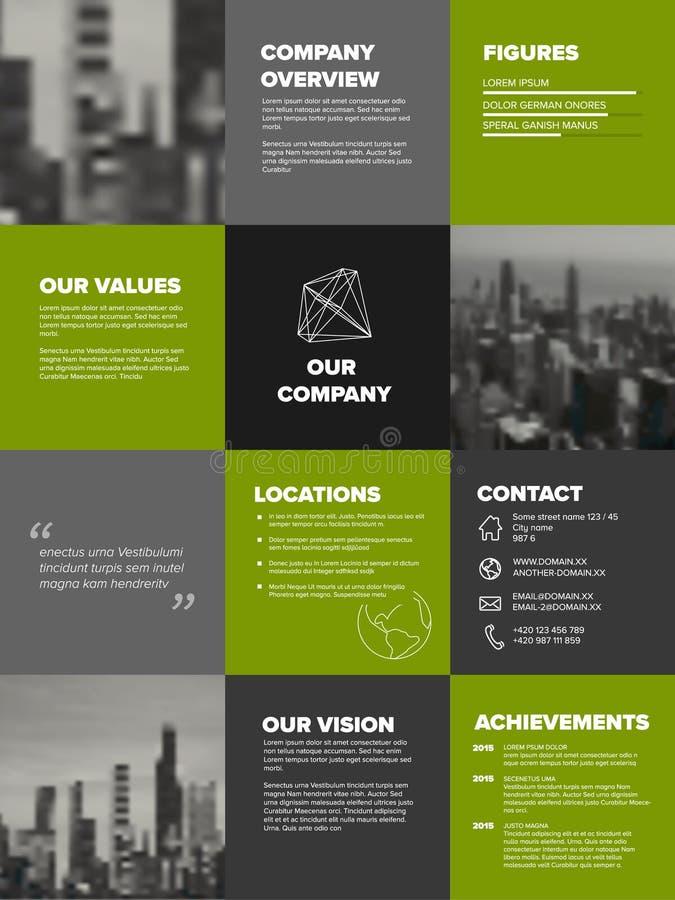 Modello di profilo aziendale illustrazione vettoriale