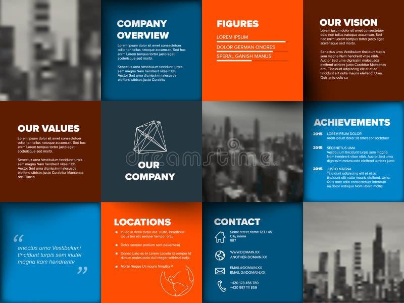 Modello di profilo aziendale illustrazione di stock