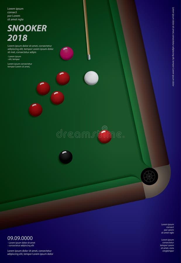 Modello di progettazione del manifesto di campionato dello snooker