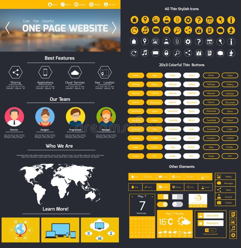 Modello di progettazione del sito Web illustrazione di stock