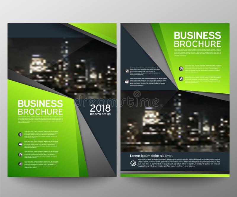 Modello di progettazione dell'aletta di filatoio dell'opuscolo di affari Rapporto annuale Fondo geometrico dell'estratto di prese illustrazione di stock