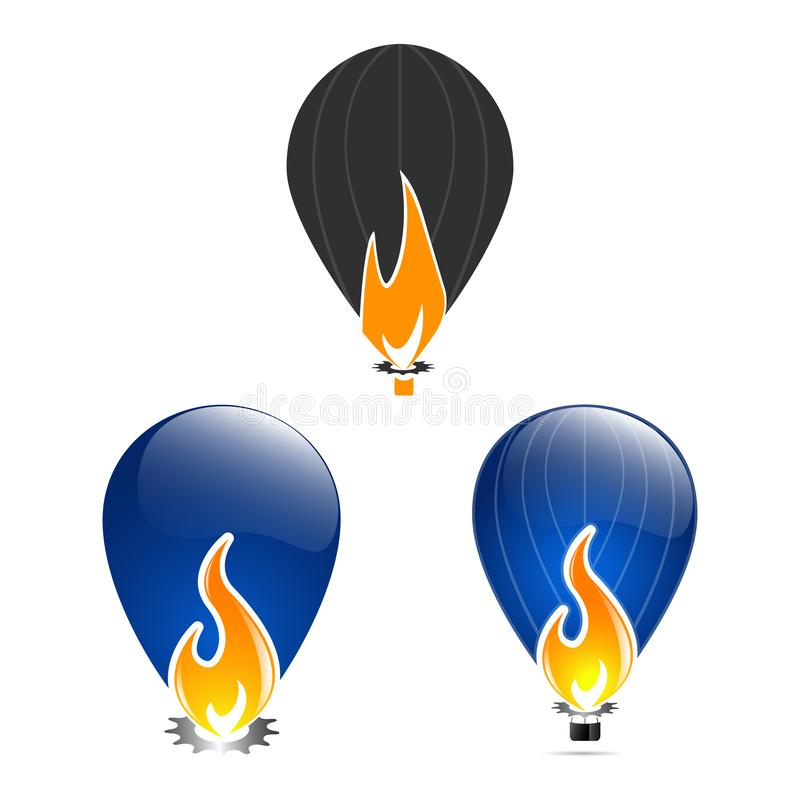 Modello di progettazione dell'illustrazione di vettore della fiamma del fuoco illustrazione vettoriale