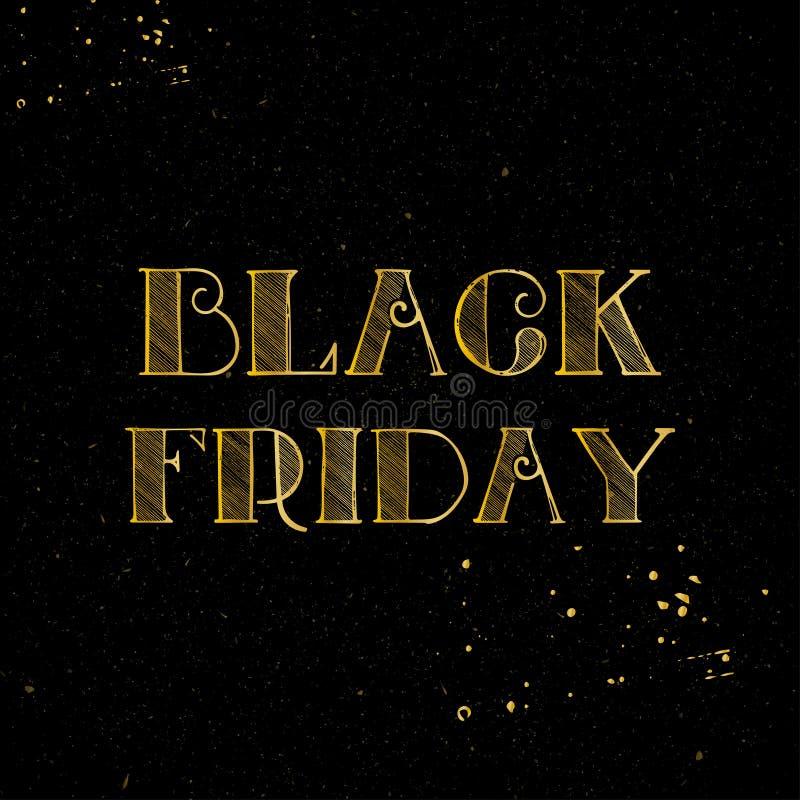 Modello di progettazione dell'insegna di vendita di Black Friday Illustrazione di vettore illustrazione vettoriale