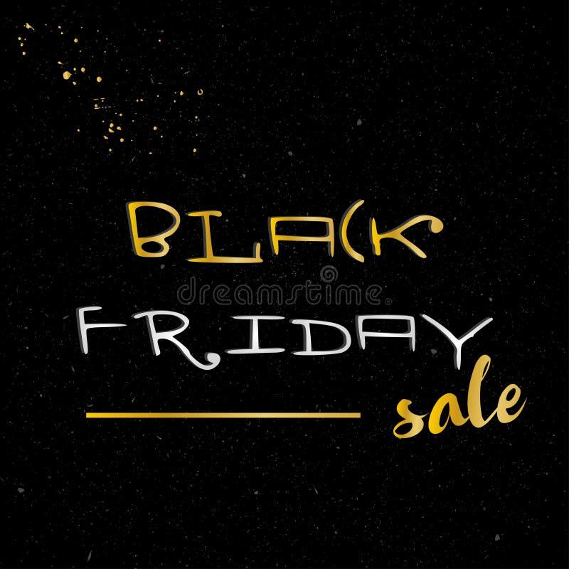 Modello di progettazione dell'insegna di vendita di Black Friday Illustrazione di vettore royalty illustrazione gratis