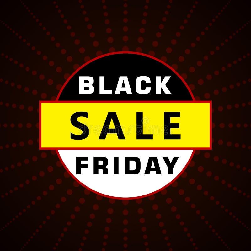 Modello di progettazione dell'iscrizione di vendita di Black Friday Bann di Black Friday illustrazione vettoriale