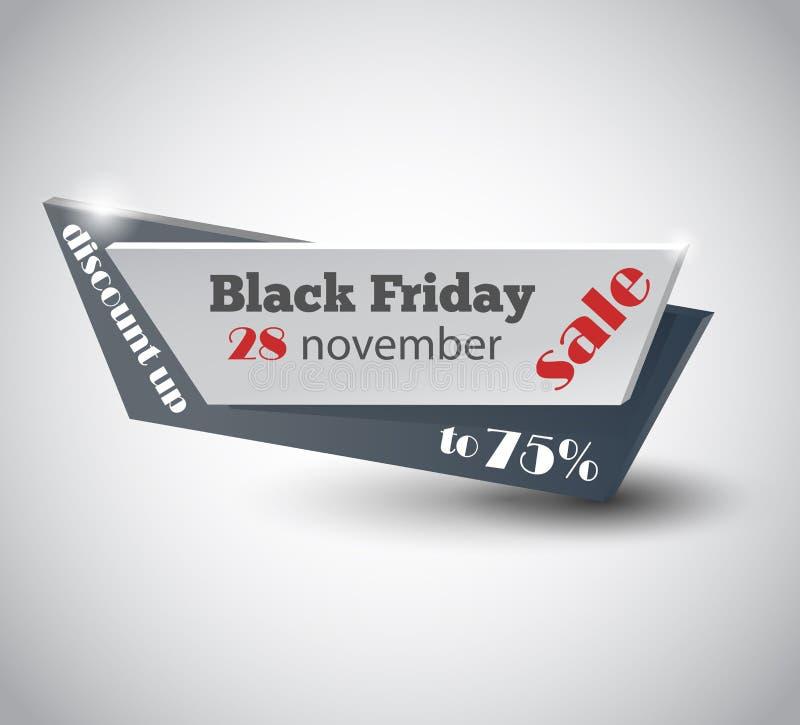 Modello di progettazione dell'iscrizione di vendita di Black Friday Insegna nera di venerdì Illustrazione di vettore illustrazione vettoriale
