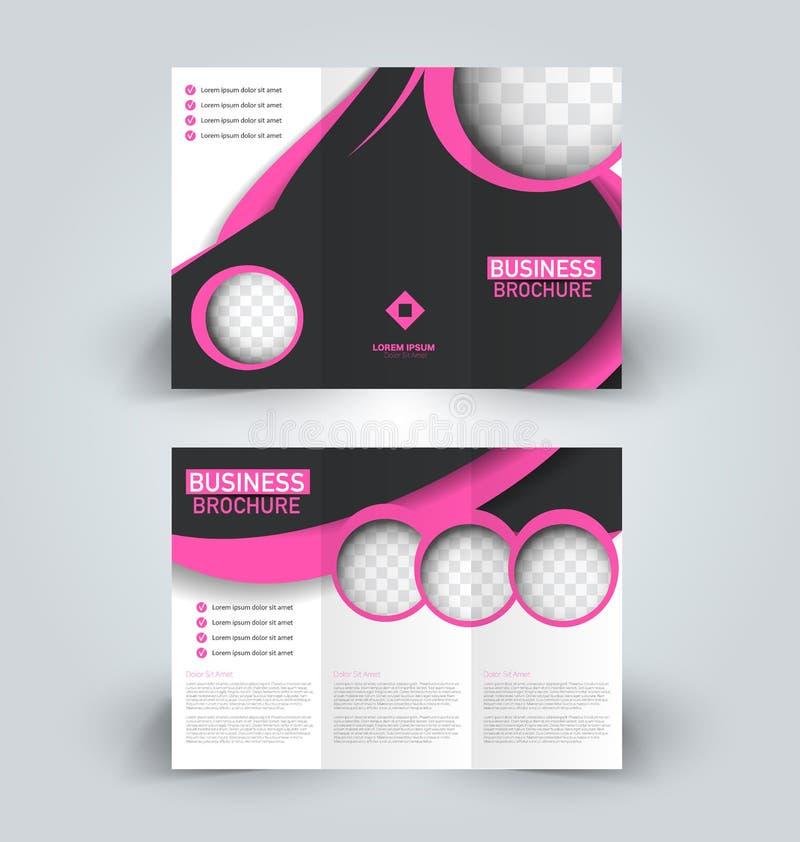 Modello di progettazione dell'opuscolo per la pubblicità di istruzione di affari Libretto ripiegabile illustrazione di stock