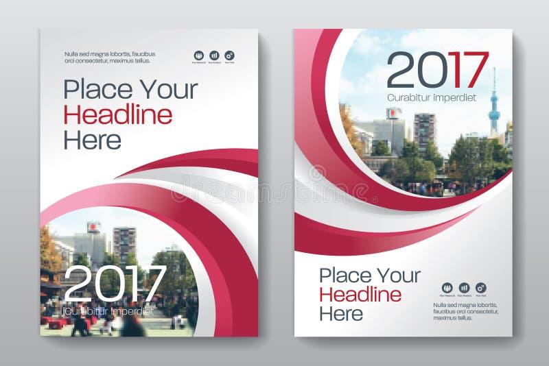 Modello di progettazione della copertina di libro di affari del fondo della città in A4 illustrazione di stock