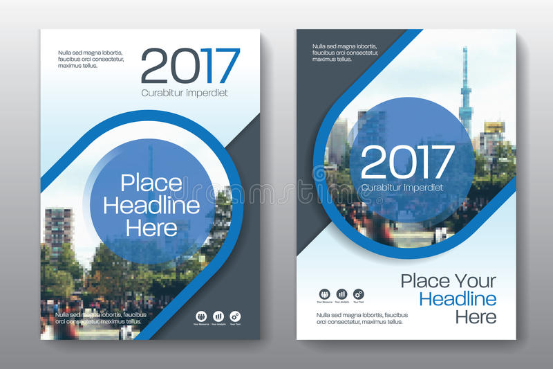 Modello di progettazione della copertina di libro di affari del fondo della città in A4 royalty illustrazione gratis
