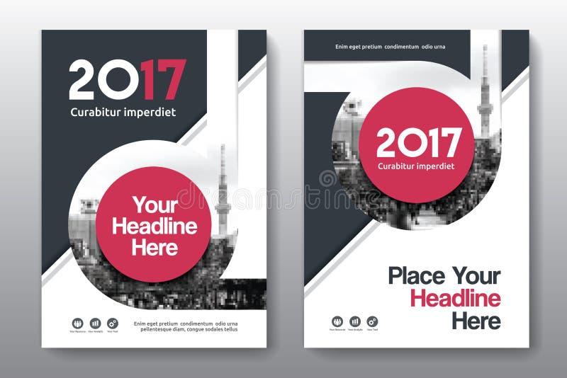 Modello di progettazione della copertina di libro di affari del fondo della città in A4 fotografia stock libera da diritti