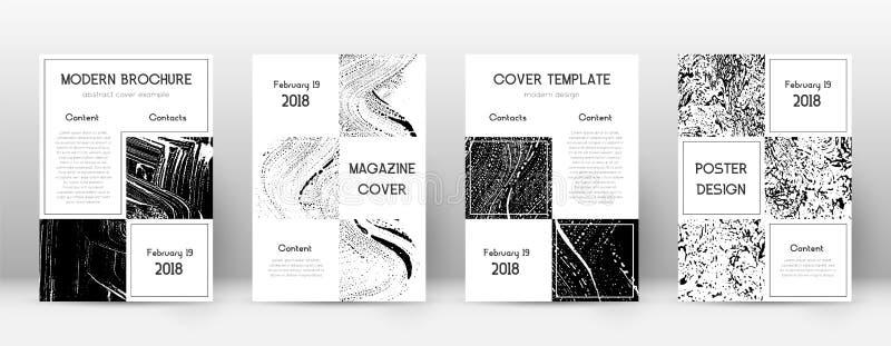 Modello di progettazione della copertina Disposizione dell'opuscolo di affari Bella copertina astratta d'avanguardia Annerisca illustrazione di stock