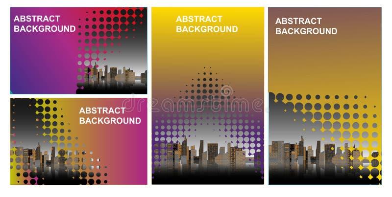 Modello di progettazione della copertina di libro di affari del fondo della città Può essere adattarsi all'opuscolo, il rapporto  royalty illustrazione gratis
