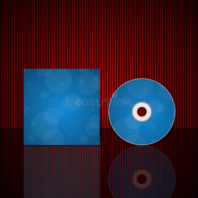 Modello di progettazione della copertura del CD. royalty illustrazione gratis