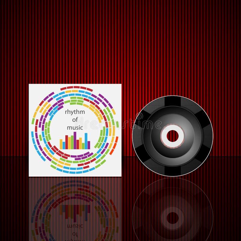 Modello di progettazione della copertura del CD di vettore illustrazione vettoriale