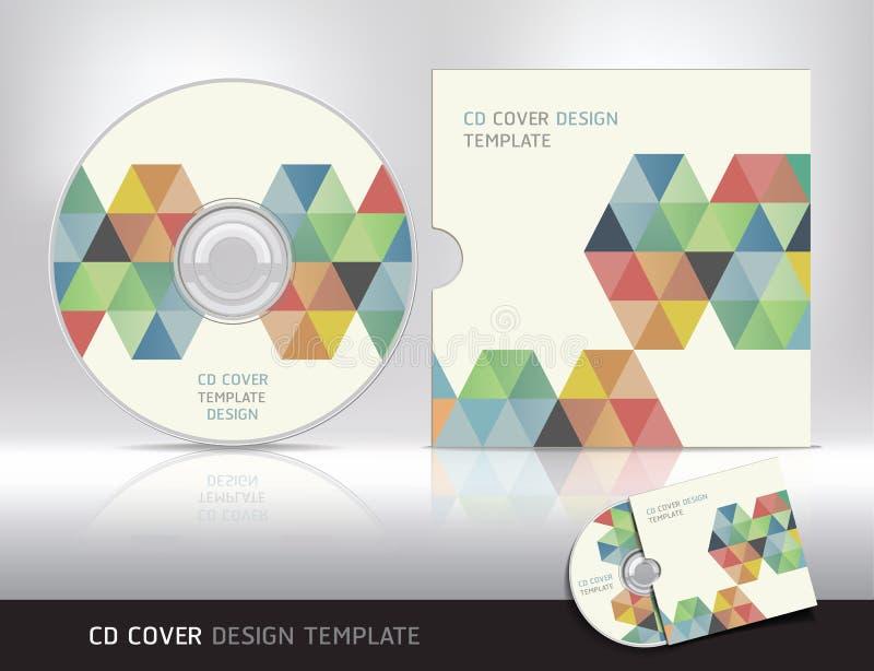 Modello di progettazione della copertura del CD. Fondo astratto. illustrazione di stock
