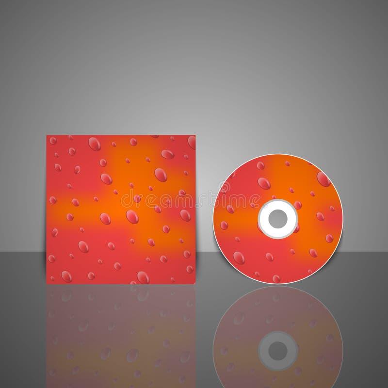 Modello di progettazione della copertura del CD. Illustrazione di vettore. illustrazione vettoriale