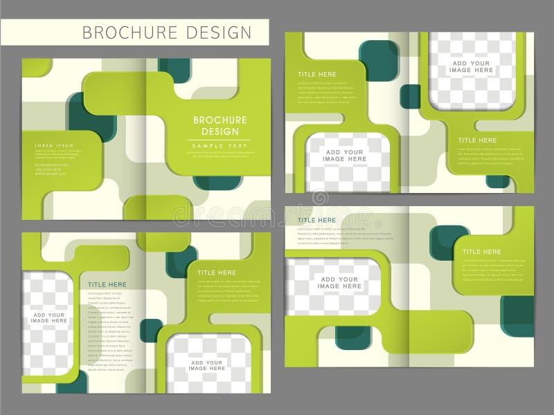 Modello di progettazione della disposizione dell'opuscolo di vettore illustrazione di stock