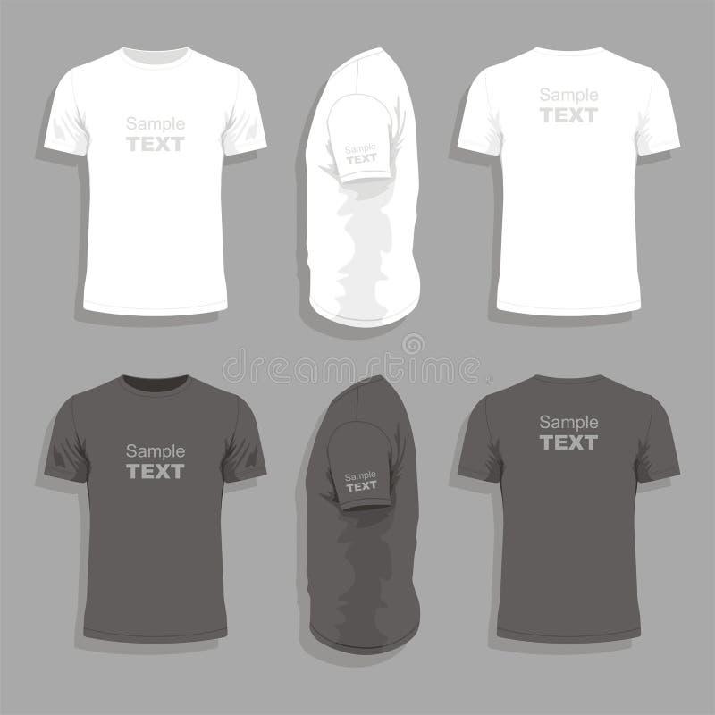 Modello di progettazione della maglietta degli uomini illustrazione di stock