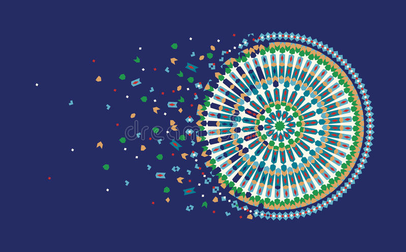 Modello di progettazione della pagina con l'ornamento del Marocco illustrazione di stock