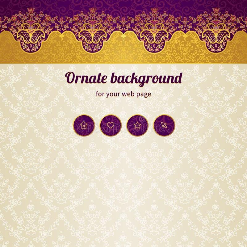 Modello di progettazione della pagina Web di vettore nello stile orientale royalty illustrazione gratis