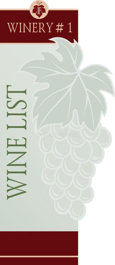 Modello di progettazione di carta del menu della lista di vino royalty illustrazione gratis