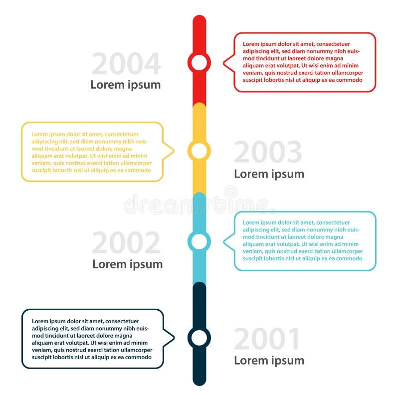 Modello di progettazione di Infographic illustrazione vettoriale