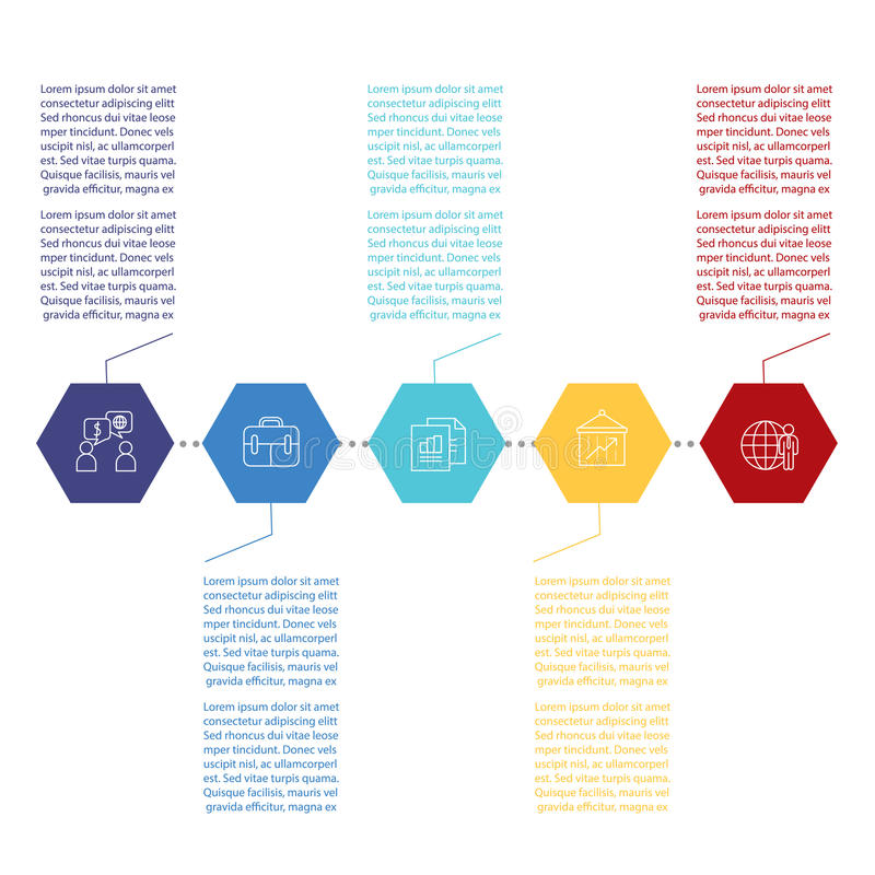 Modello di progettazione di Infographic illustrazione di stock