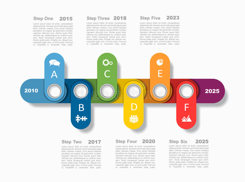 Modello di progettazione di Infographic con il posto per i vostri dati Illustrazione di vettore illustrazione vettoriale