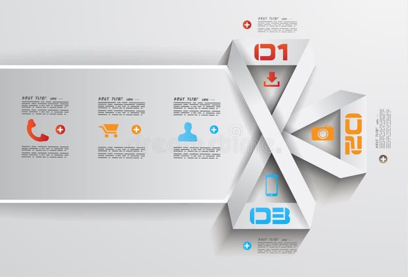 Modello di progettazione di Infographic con stile piano moderno illustrazione di stock