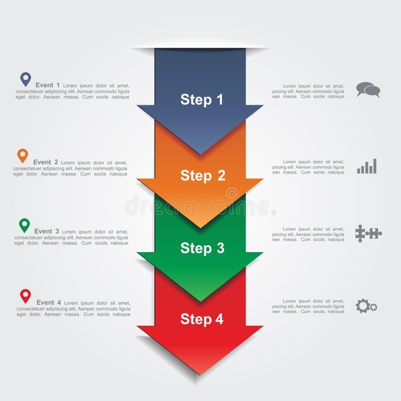Modello di progettazione di Infographic Illustrazione di vettore illustrazione di stock