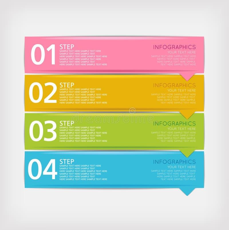 Modello di progettazione di Infographics illustrazione di stock